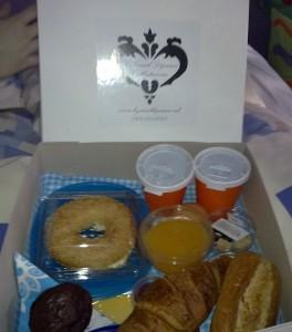 Inhoud van de ontbijtdoos